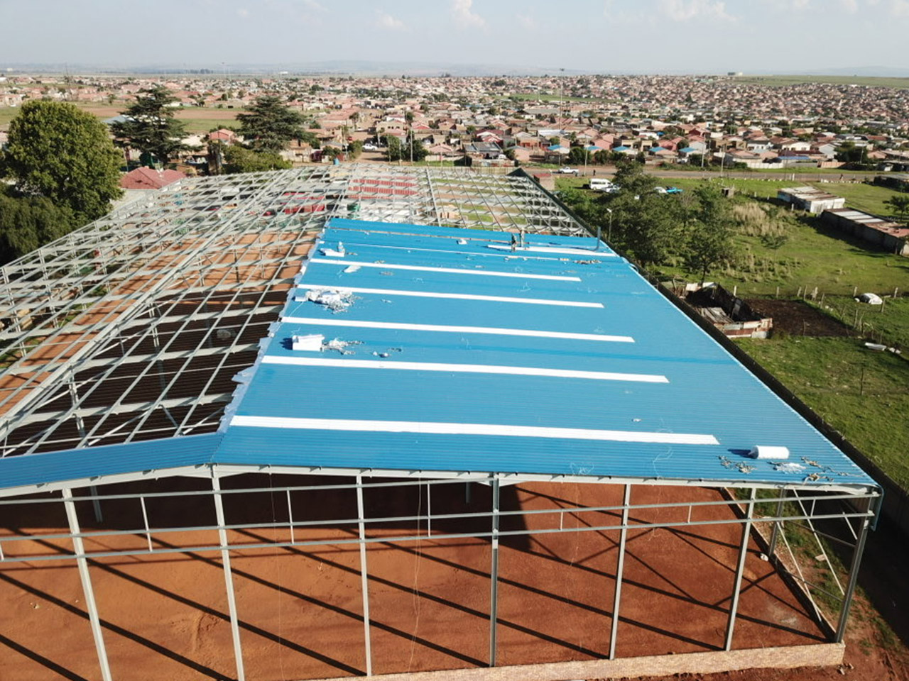 Bluegumview Cash & Carry Warehouse - structural steel and sheeting